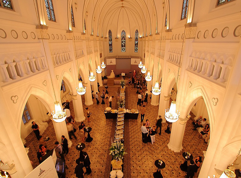 Corporate Dinner and Dance or Gala Dinner held in Chijmes Hall