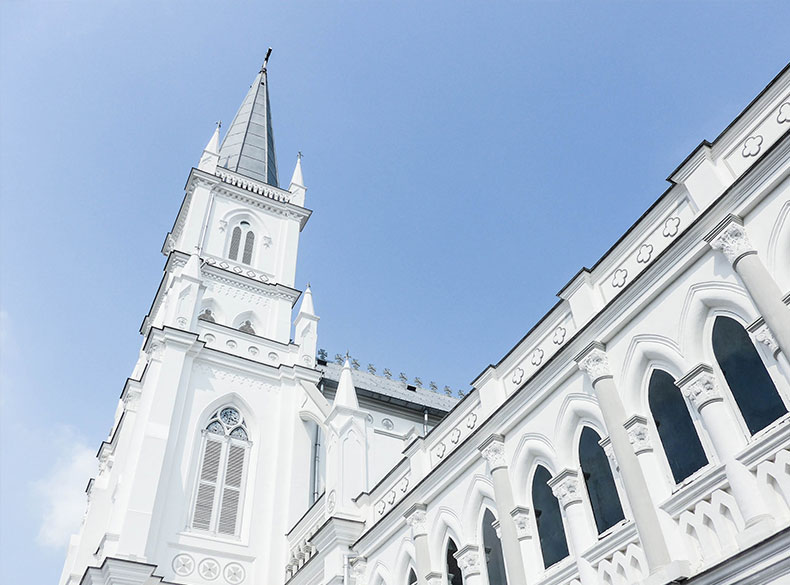 Exterior of Chijmes Hall.